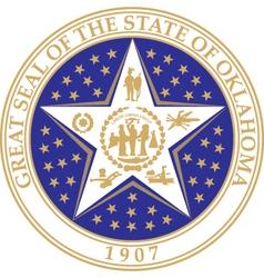 Oklahoma seal vector image