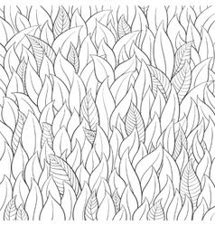 Outline leaf background vector image vector image