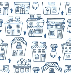 Seamless pattern wit traditional portuguese houses vector
