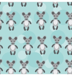 Seamless pattern with funny cute mouse animal on a vector