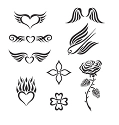 Set of tribal tattoo vector image vector image