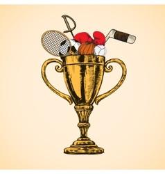 Sport trophy cup vector image vector image