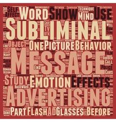 Subliminal messages text background wordcloud vector