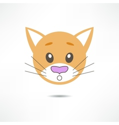 Surprised cat vector image