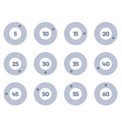 timer icons set stopwatch icons vector image vector image