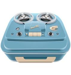 Vintage reel to reel audio tape recorder vector