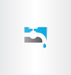 Water tap logo icon vector