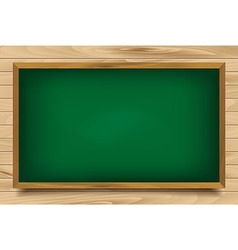 School green board on wooden background vector