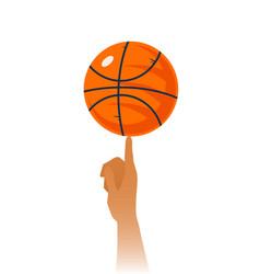 Basketball skills closeup vector