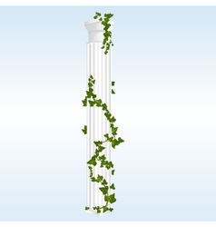 Column with ivy vector