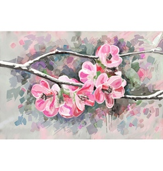 original painting of flower blooming spring vector image