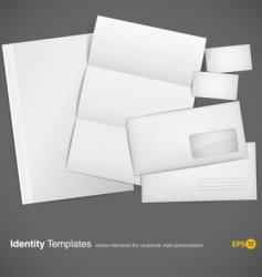 set of corporate identity vector image