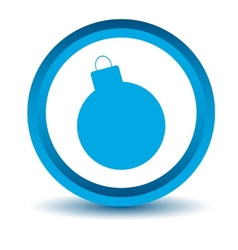 Blue bomb icon vector