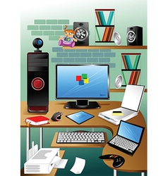 Desktop cartoon vector