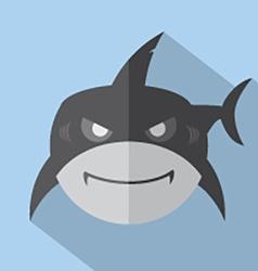 Modern Flat Design Shark Icon vector image