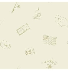 Seamless background with usa icons vector
