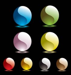 Gel marbles vector