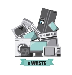 Waste concept design vector