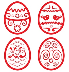 Easter set for design beautiful eggs vector image