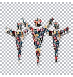 Man symbol people 3d transparency vector
