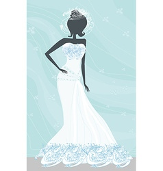 Abstract beautiful bride vector