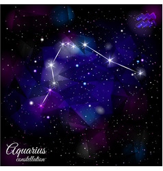 Aquarius constellation with triangular background vector
