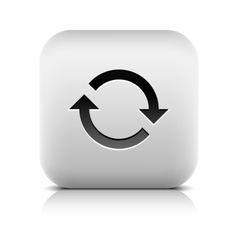 Arrow icon reload rotation reset refresh sign vector