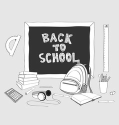 back to school handdrawing 2 vector image vector image