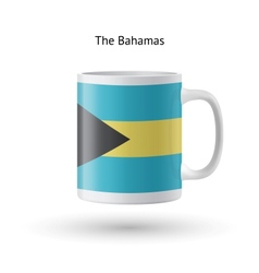 Bahamas flag souvenir mug on white background vector