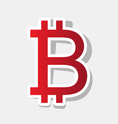bitcoin sign new year reddish icon with vector image vector image