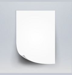 Blank white 3d paper canvas white blank vector