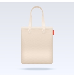Blank white tote shopping bag template vector