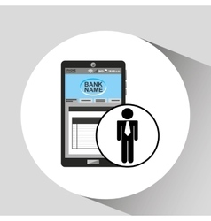 Business man app bank digital design vector