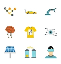 Computer latest devices icons set flat style vector