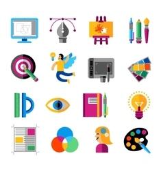 Creative Designer Icons Set vector image vector image
