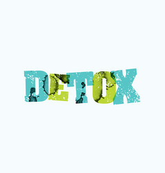 Detox concept stamped word art vector