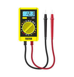 Digital multimeter with measuring probe vector