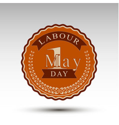 emblem for labour day vector image