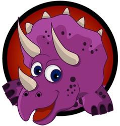 funny dinosaur head cartoon vector image vector image