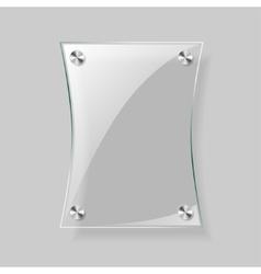 Glass rectangle plane vector