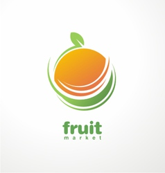 Healthy food logo design concept vector image vector image