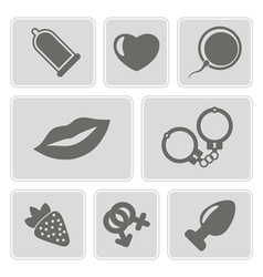 icons with sex symbols vector image