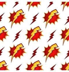 Lightning bolts seamless pattern in retro vector