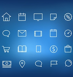 Modern web and mobile application pictograms vector image vector image