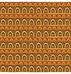 Seamless ornament from red yellow and brown color vector image vector image