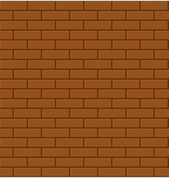 Seamless Pattern of Red Brick vector image
