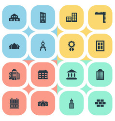 Set of simple structure icons vector