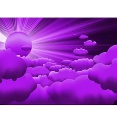 sunburst sunset on cloud EPS 8 vector image vector image