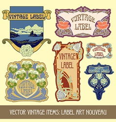vintage items vector image vector image