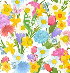 spring floral design on the white background vector image